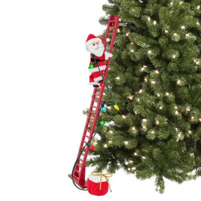 43 in. Super Climbing Santa - Plush Santa
