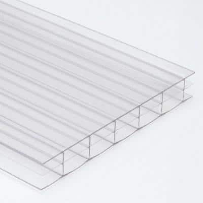 Thermoclear 48 in. x 72 in. x 16mm Clear Multiwall Polycarbonate Sheet