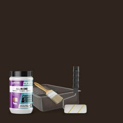 1 qt. Mocha Furniture Cabinets Countertops and More Multi-Surface All-in-One Interior/Exterior Refinishing Kit