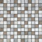Silver Brown 11.7 in. x 11.7 in. Polished Glass Mosaic Tile (9.51 sq. ft./Case)