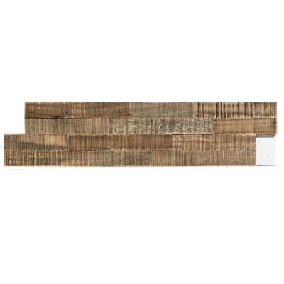 6.5 in. x 0.5 in. Petrified Forest Matted Wood Tiles