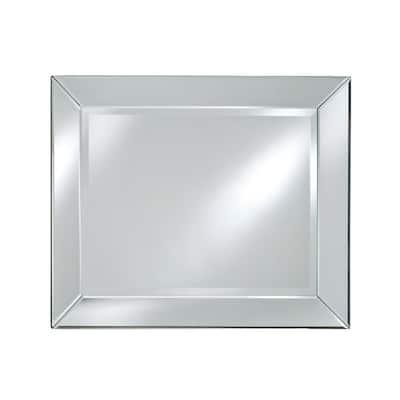 30 in. W x 36 in. H Framed Rectangular Beveled Edge Bathroom Vanity Mirror