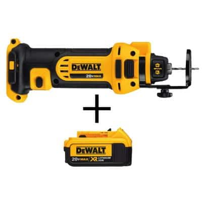 20-Volt MAX Cordless Drywall Cut-Out Tool with (1) 20-Volt Battery 4.0Ah