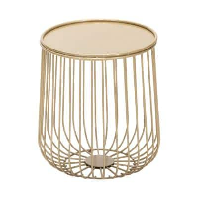 Gilbert Gold Metal Outdoor Side Table
