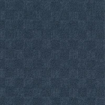 First Impressions City Block Denim 24 in. x 24 in. Commercial Peel and Stick Carpet Tile (15-tile / case)