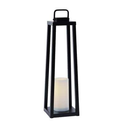 Redvale Black Battery Operated Flameless Candle Lantern