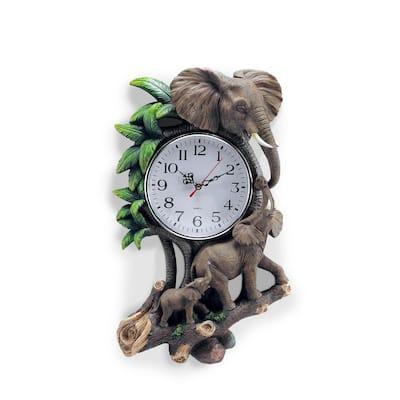 17.5 in. 3D Elephant Wall Clock