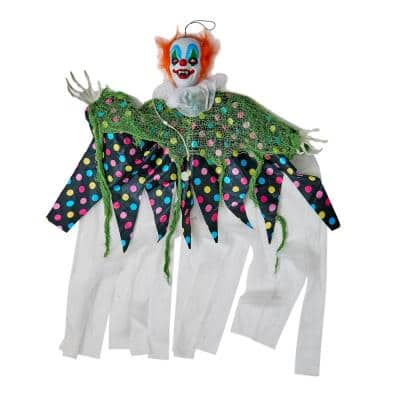 36 in. Hanging Light Up Clown