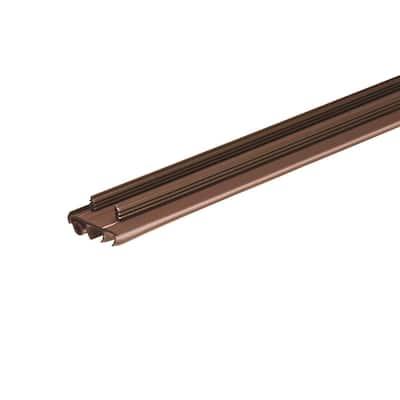 36 in. x 1-3/4 in. Brown PVC Door Bottom Replacement for Stanley Steel Doors