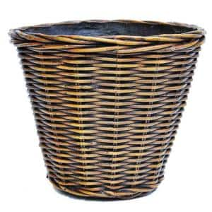 22 in. Dia Wicker Composite Woven Look Pot