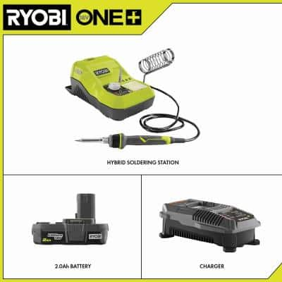 ONE+ 18V Hybrid Soldering Station with 2.0 Ah Battery and Charger Kit