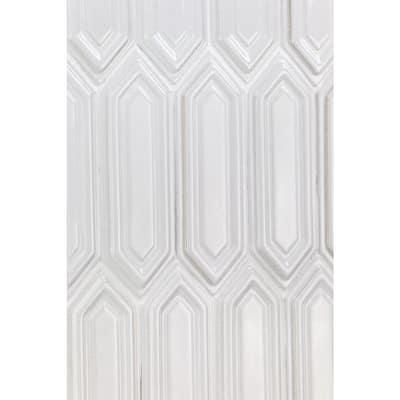 Delphi Hexagon Glacier White 9.5 in. x 15.5 in. Glazed Ceramic Mosaic Tile (1.02 sq. ft./Sheet)