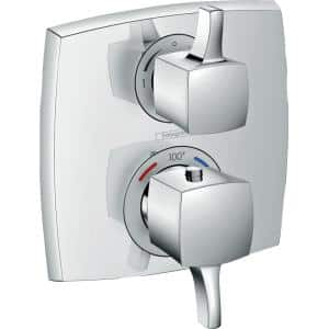 Ecostat Classic 2-Handle Shower Trim Kit in Chrome Valve Not Included