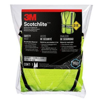 High-Visibility Yellow Polyester Reflective Class 2 Construction Reflective Safety Vest