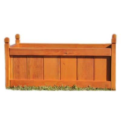 Garden 12 in. x 12 in. x 24 in. 1905 Super Deck Finished Redwood Solid Planter Box