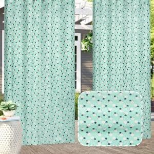 Pro Space 58 X 84 3d Printed Outdoor Curtain Panel Gazebo Patio Waterproof Curtain Drape 1 Panel W1hgblp5984 The Home Depot