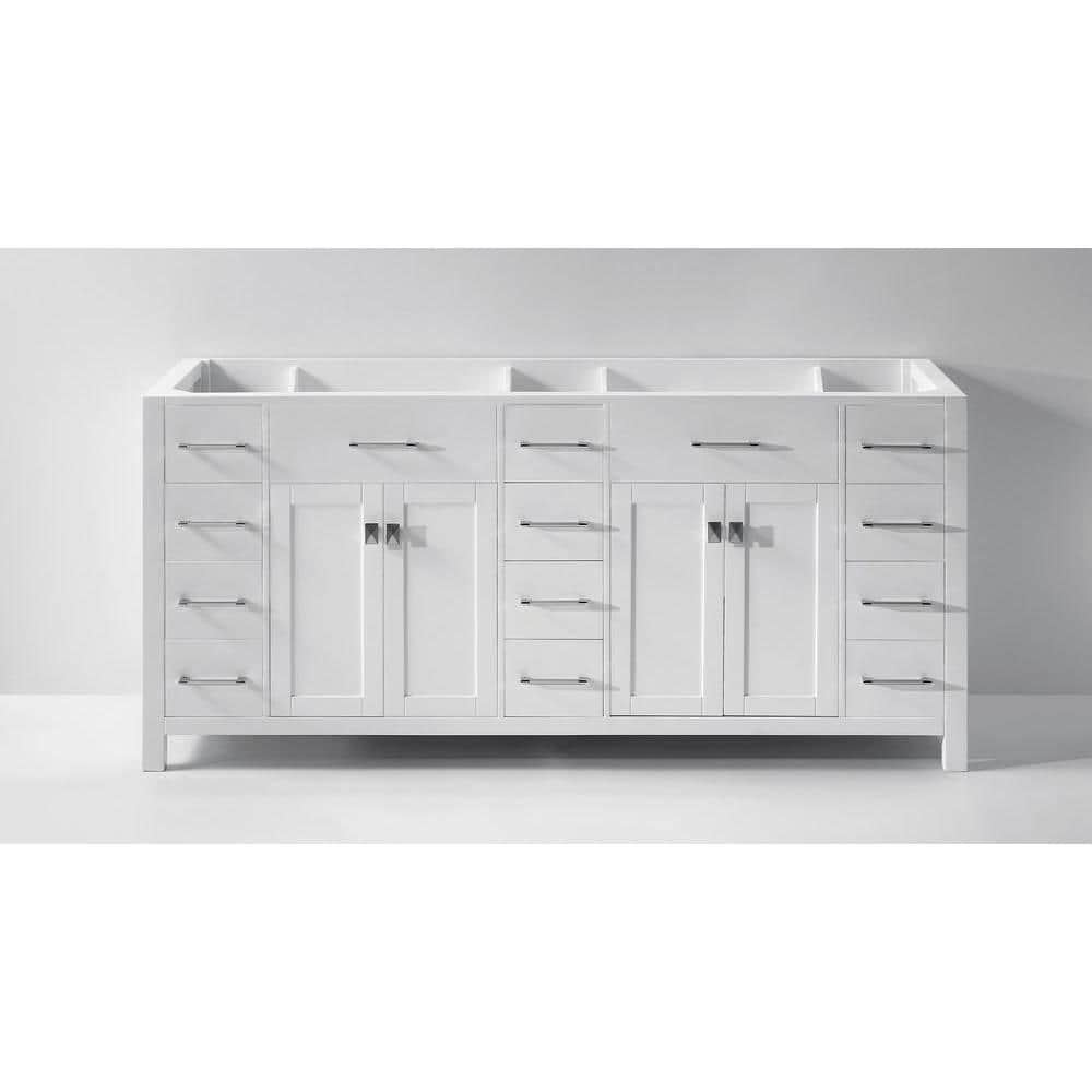 Virtu Usa Caroline Parkway 72 In W Bath Vanity Cabinet Only In White Md 2172 Cab Wh The Home Depot