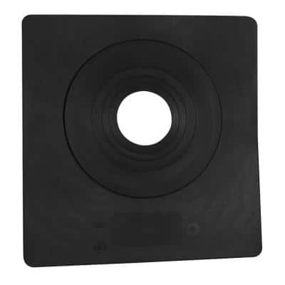 Sideflash 12-1/2 in. x 12 in. Vertical Vent Pipe Roof Flashing with 3 in. - 6 in. Adjustable Diameter