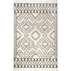 Vasiliki Moroccan Tassel Shag Off-White 12 ft. x 15 ft. Area Rug