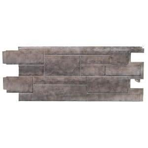 Stone PHC - 48 in. x 18.5 in. Premium Hand-Cut Stone in Shadow Gray (46 sq. ft. per Box) Vinyl Siding