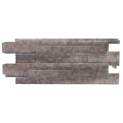 Stone PHC - 48 in. x 18.5 in. Premium Hand-Cut Stone in Shadow Gray (46 sq. ft. per Box) Vinyl Siding