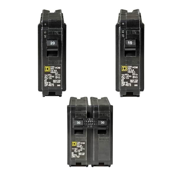 Square D DP-4075 20-Amp 2-Pole Circuit Breaker for sale online