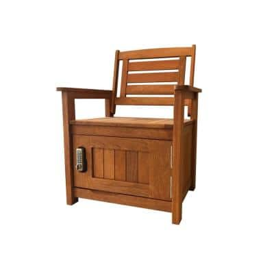 Kayla Parcel Secure Drop Box Wood Outdoor Lounge Chair
