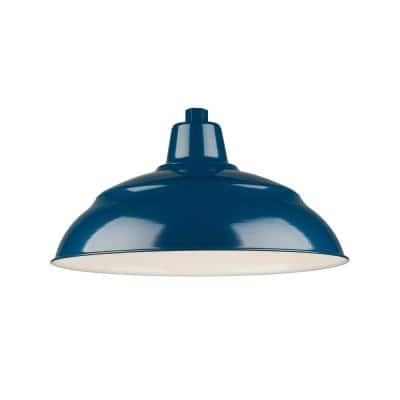R Series 1-Light 18 in. Navy Blue Warehouse Shade