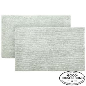 Sage 24 in. x 40 in. Cotton Reversible Bath Rug (Set of 2)