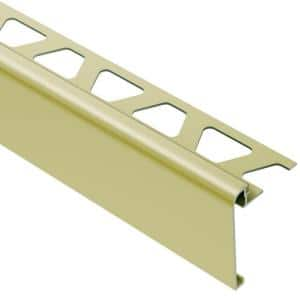 Rondec-Step Satin Brass Anodized Aluminum 5/16 in. x 8 ft. 2-1/2 in. Metal Tile Edging Trim