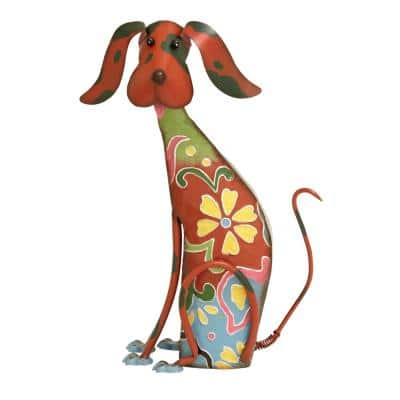 Whimsical Dog Iron Sculpture