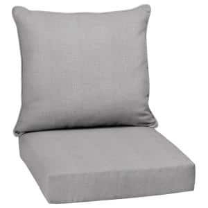 24 in. x 22.5 in. Paloma Woven Outdoor 2-Piece Deep Seating Lounge Chair Cushion