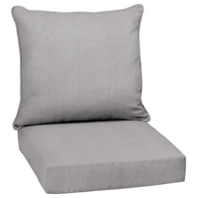 24 in. x 24 in. Paloma Woven Outdoor 2-Piece Deep Seating Lounge Chair Cushion