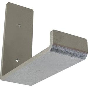 2 in. x 5 1/2 in. x 6 in. Hammered Silver Steel Hanging Shelf Bracket
