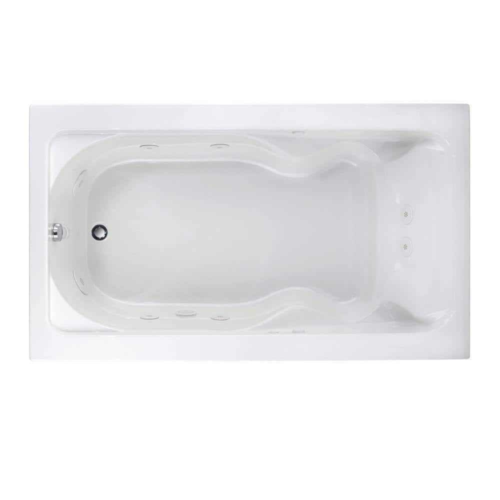 American Standard Cadet Everclean 72 In X 42 In Whirlpool Tub In White 2774 018wc 020 The Home Depot