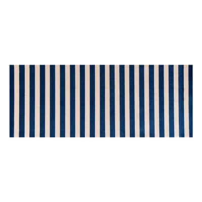In-Home Washable/Non-Slip Cabana Navy 2 ft. 3 in. x 6 ft. 3 in. Runner Rug