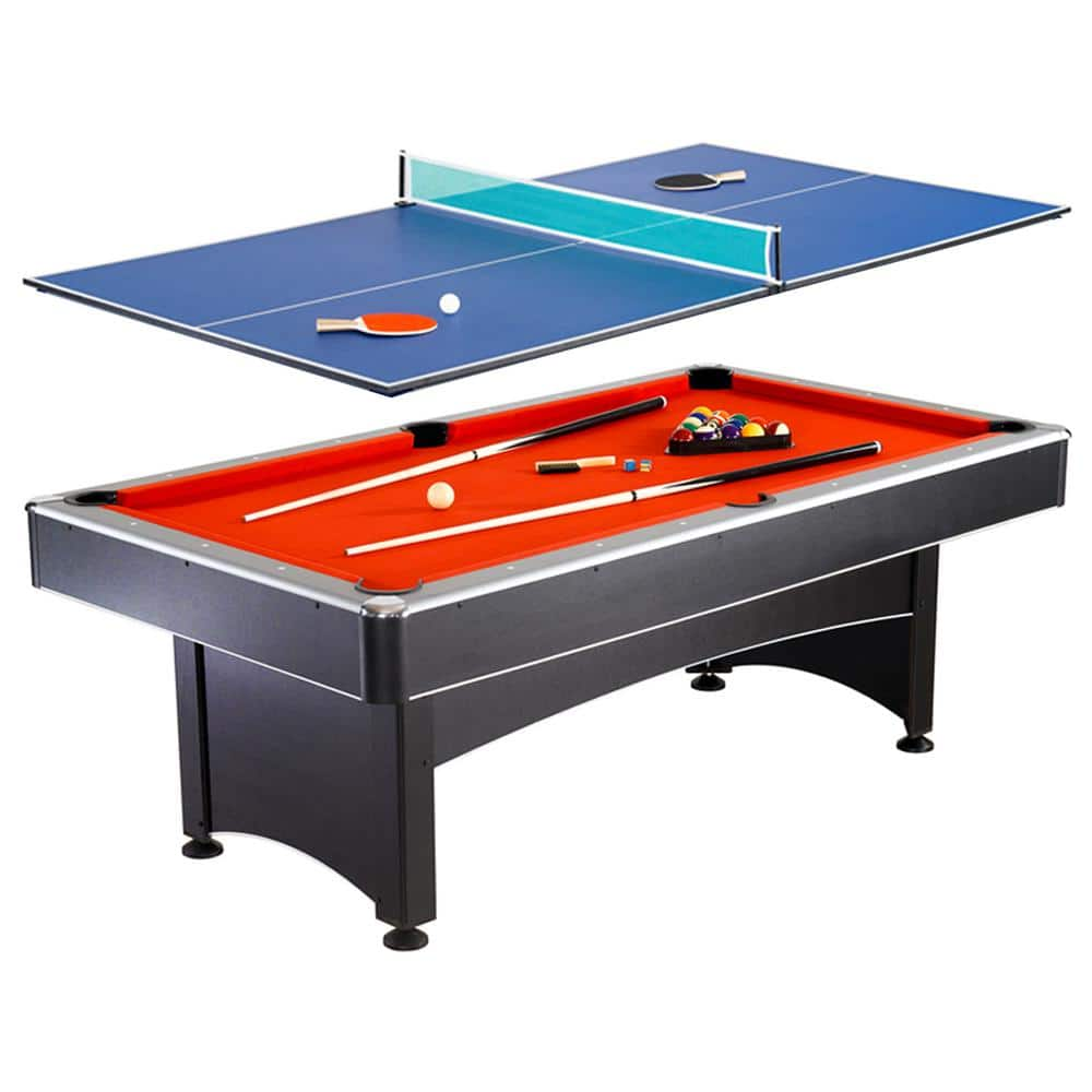 Hathaway Maverick 7 Ft Pool And Table Tennis Multi Game Set With Cues Paddles And Balls Bg1023 The Home Depot