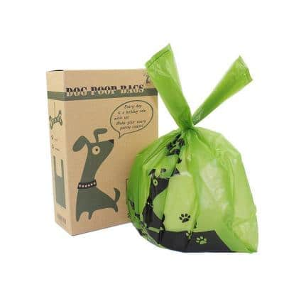Green Unsented Premium Handle Tie Pet Poop Bags (200-Count)