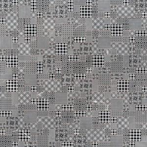 Tetris Nero Encaustic 12 in. x 12 in. x 10mm Honed Marble Mesh-Mounted Mosaic Tile (9.7 sq. ft. / case)