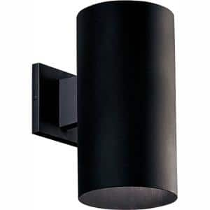 Cylinder Collection 6'' Black  Modern Outdoor LED  Wall Lantern Light