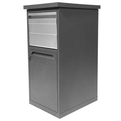 ParcelWirx Graphite Lockable Package Delivery Box with Parcel Chute