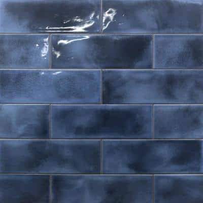 Piston Camp Blue 4 in. x 12 in. 7mm Glazed Ceramic Subway Wall Tile (34-piece 10.97 sq. ft. / box)