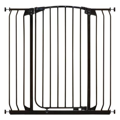 Chelsea 39.4 in. H. Extra Tall and Extra Wide Auto-Close Security Gate in Black