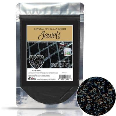 Crystal Glass Grout Jewels Black Pearl 75 grams (1-Pack)