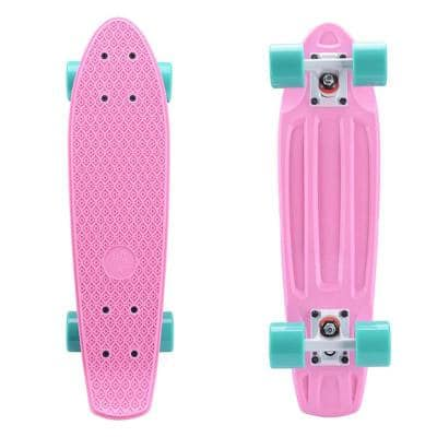 22 in. x 6 in. Skateboards Complete Skateboards for Kids Youths Teens Beginners Pink