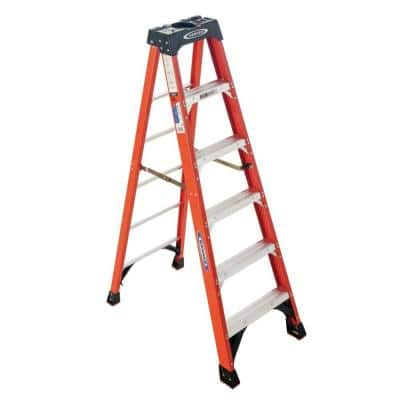 6 ft. Fiberglass Step Ladder ( 10 ft. Reach Height) with 300 lb. Load Capacity Type IA Duty Rating