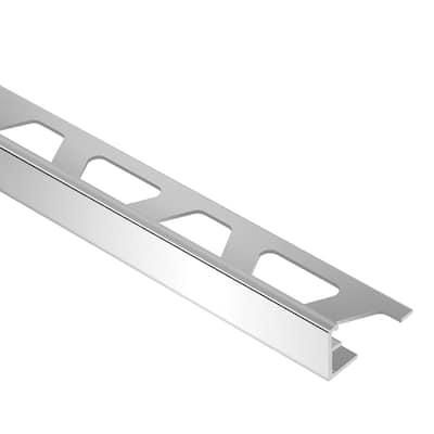 Schiene Aluminum 3/8 in. x 8 ft. 2-1/2 in. Metal L-Angle Tile Edging Trim