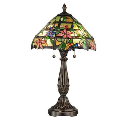 27.5 in. Trellis Fieldstone Table Lamp