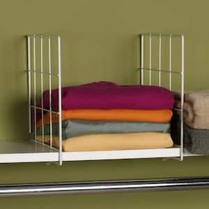 10 in. Shelf Divider in White Set of 2