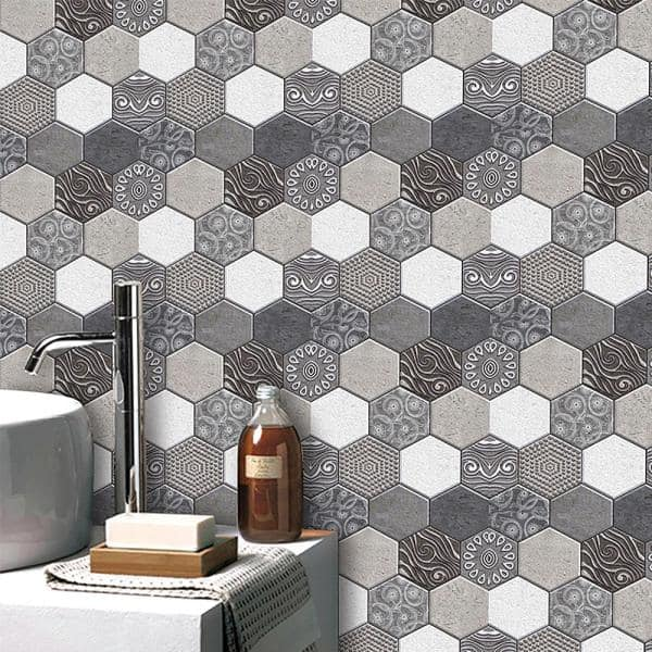 Ejoy 3d Pvc Peel And Stick Mosaic Tile Sticker Jm516 12 In X 12 In 20 Piece Pvcsticker Jm516 20pc The Home Depot